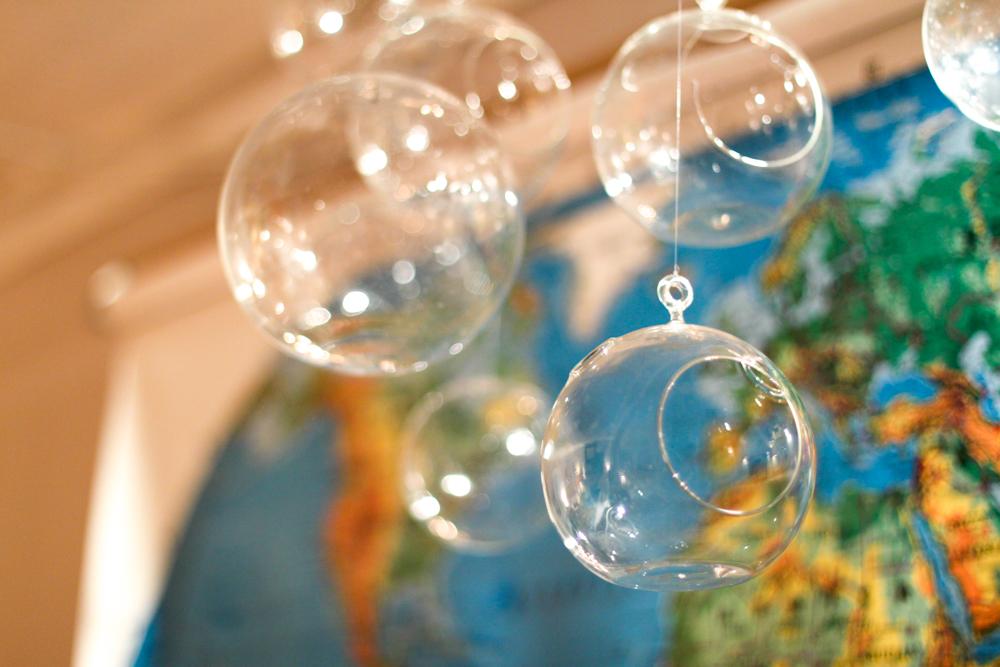CB2 bubble clear balls