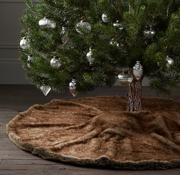 Luxe Faux Fur Tree Skirt from Restoration Hardware -- Coyote