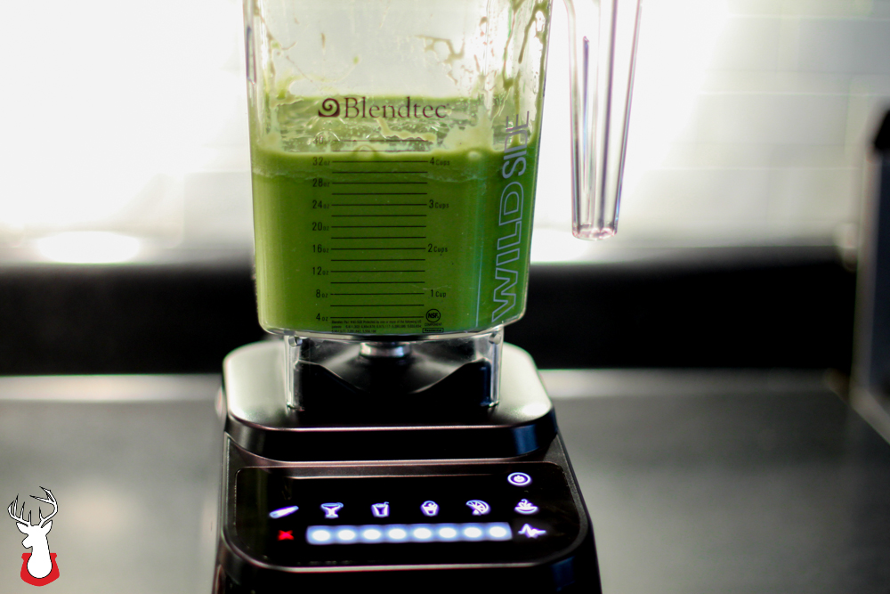 G@H: Green smoothie after bending in @Blendtec