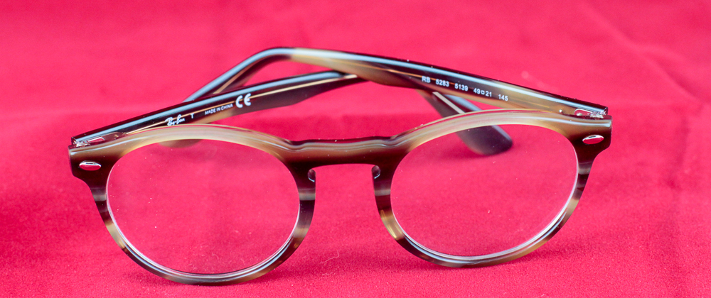 Ray-Ban Striped Brown Eyeglasses
