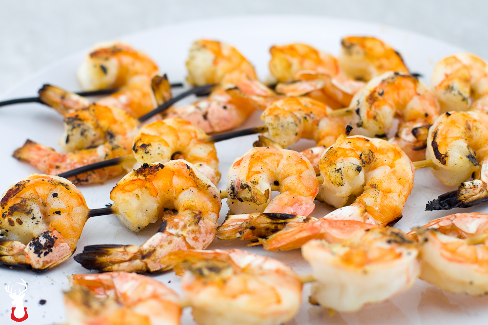 Grilled Shrimp with Garlic Caper Sauce