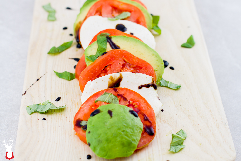 Our Play On A Classic Avocado Caprese Salad With Balsamic Glaze