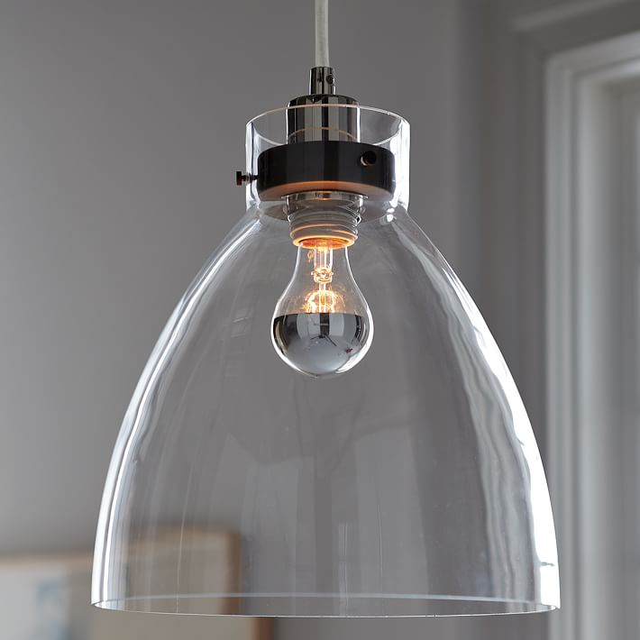Industrial Glass Pendant from West Elm