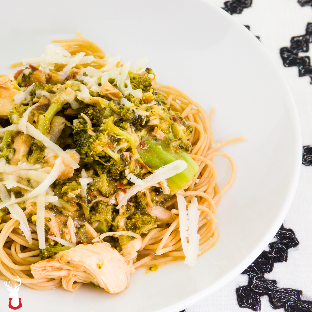 Pressure Cooker Chicken Breast and Broccoli Pasta