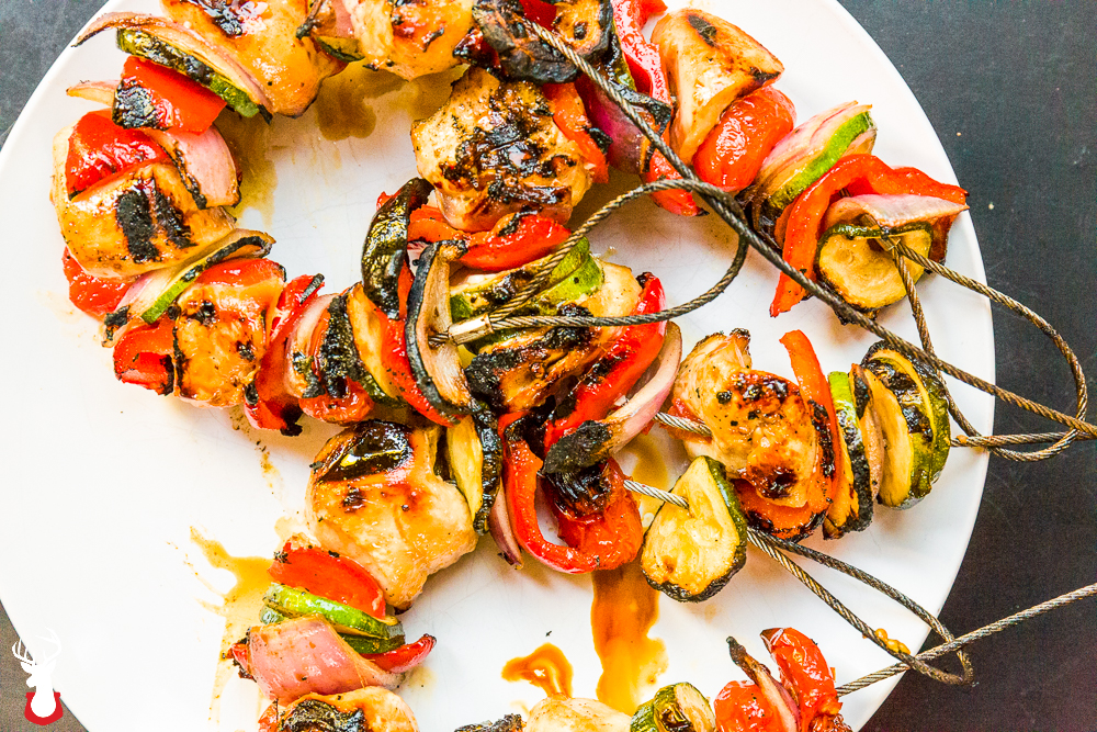 Chicken Kebabs with a Lemon Coconut Aminos Glaze